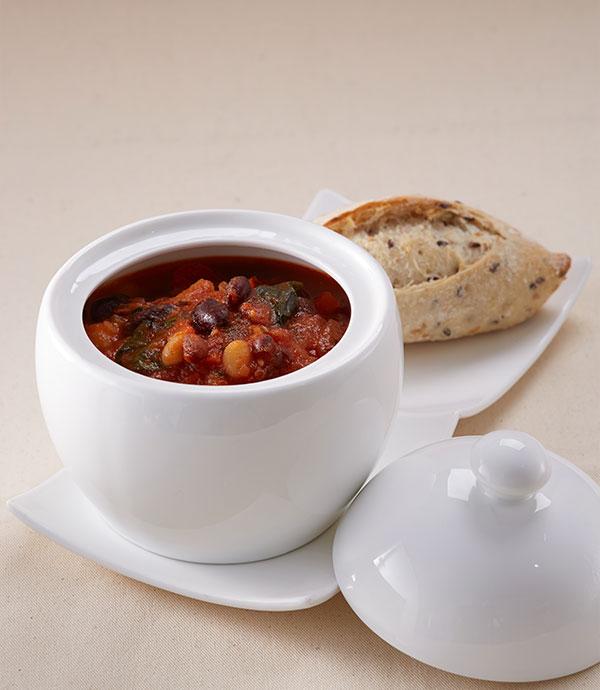 Tomato Basil Bean Soup